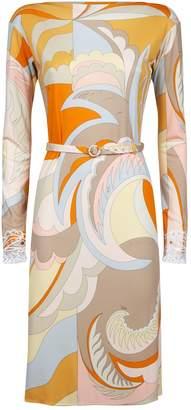 Emilio Pucci Belted Swirl Dress