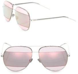 Christian Dior Split2 59MM Mirrored Aviator Sunglasses