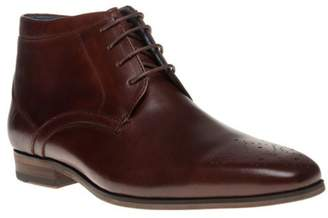 Sole New Mens Brown Malachi Leather Boots Chukka Lace Up