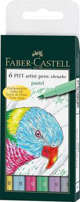 Faber-Castell PITT Artist Brush Pen Set 6-Color Pastel Set