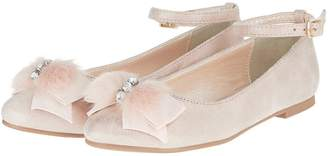 Monsoon Girls Eliza Fluffy Bow Ballerina Shoe