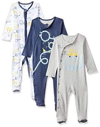 Mothercare Baby' Boys 3 Pack Trucker Hanging Sleeper Pyjama Sets,(Size: 50)