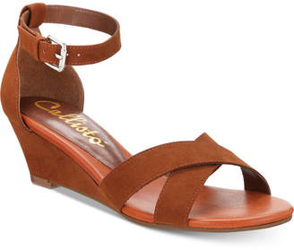Callisto Strobe Crisscross Wedge Sandals