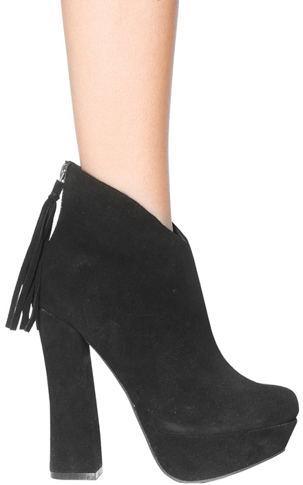 Steve Madden Gavvin Ankle Boot in Black Suede