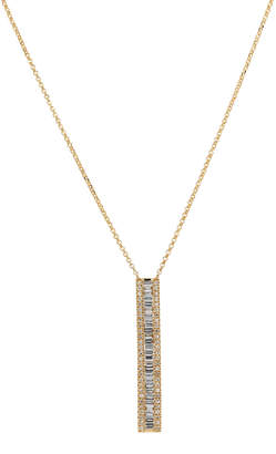 Casa Reale 14k Yellow Gold Baguette Diamond Pendant Necklace