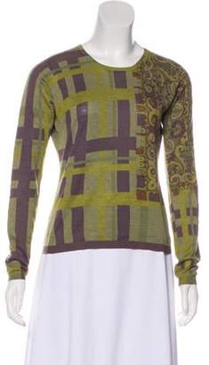 Etro Abstract Print Sweater Olive Abstract Print Sweater