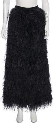 Haute Hippie Ostrich Feather Skirt