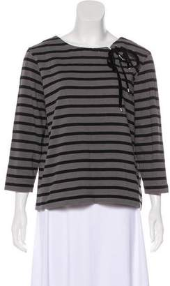 Marc by Marc Jacobs Stripe Lace-Up Top