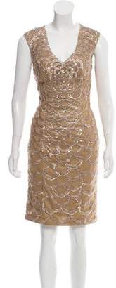 Sue Wong Knee-Length Embellished Dress w/ Tags