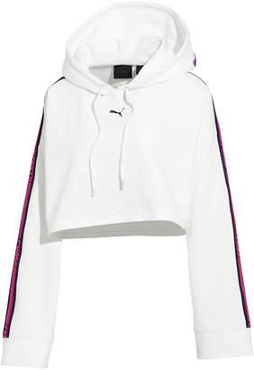 FENTY PUMA by Rihanna Hooded Cropped Sweatshirt w/ Racer Stripe