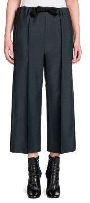 Fendi Mohair & Wool Cropped Wide-Leg Pants