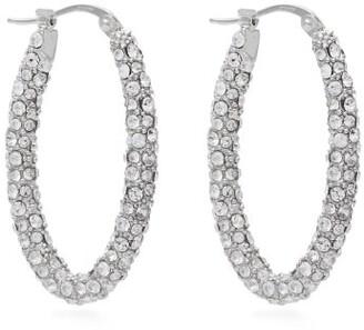 Alexander McQueen Crystal Hoop Earrings - Womens - Crystal