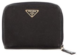 pradaPrada Saffiano Compact Zip Wallet