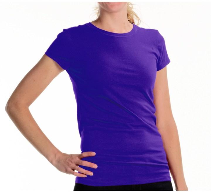 Joan Vass @Model.CurrentBrand.Name Studio Molly Crew Shirt - Cotton Jersey, Short Sleeve (For Women)