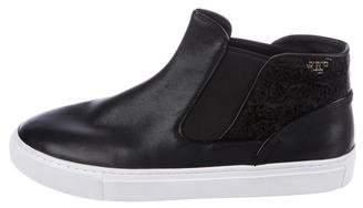 Tory Burch High-Top Slip-On Sneakers