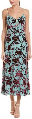 Yigal Azrouel V-Neck Silk-Blend Slip Dress