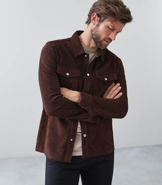 Reiss Mick Suede Overshirt