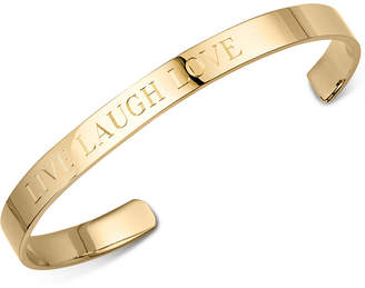 "Sarah Chloe Live Laugh Love"" Bangle Bracelet in Sterling Silver or 14K Gold-Plated Sterling Silver"