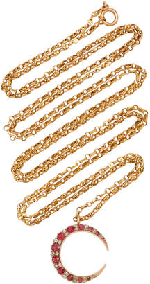 Chloé Toni + Goutal Lilly One-Of-A-Kind Antique Gold Spinel And Diamond Necklace