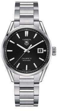 Tag Heuer Mens Carrera Stainless Steel Calibre 5 Watch WAR211ABA078