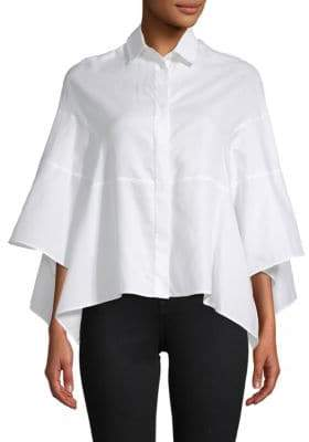 Valentino Cotton Cape Shirt
