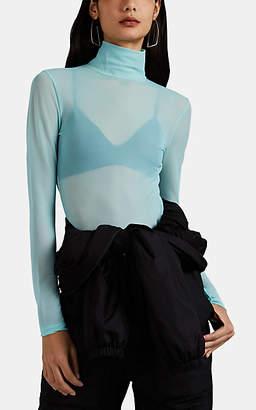 Maison Margiela Women's Mesh Bodysuit - Turquoise, Aqua