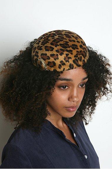 Leopard Cocktail Hat