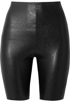 Commando Faux Stretch-leather Shorts - Black