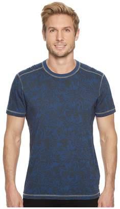 Agave Denim Frisco Woods Short Sleeve Crew Neck Flora Camo Print Men's Short Sleeve Pullover
