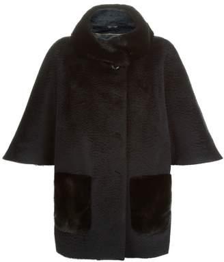 Cinzia Rocca Alpaca Wool Coat with Fur Trim