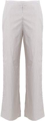 THREE GRACES LONDON Basilio striped high-rise cotton pyjama trousers