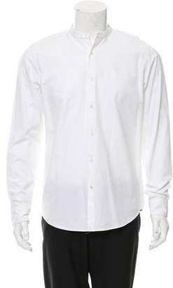 Dries Van Noten Mandarin Collar Button-Up Shirt w/ Tags