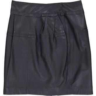 Schumacher Navy Leather Skirts