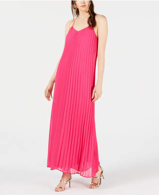 Bar III Pleated Maxi Dress