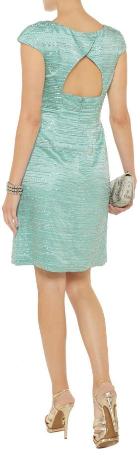 Mikael Aghal Embellished silk dress
