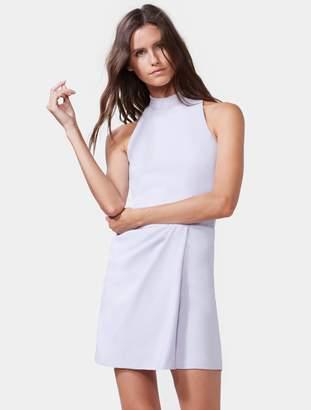 Halston Mock Neck Dress With Draped Skirt