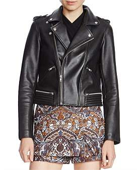 Maje Basalt Leather Jacket