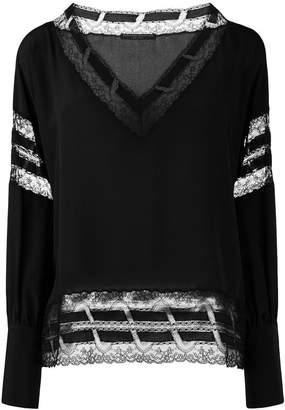 Ermanno Scervino lace detail blouse