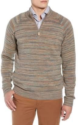 Peter Millar Twisted Cashmere Quarter Zip Sweater