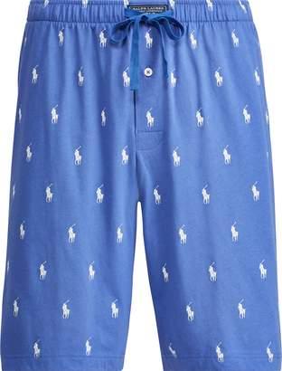 Ralph Lauren Allover Pony Knit Sleep Short
