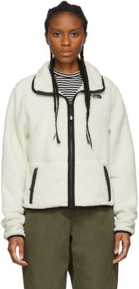 The North Face White Sherpa Dunraven Crop Jacket