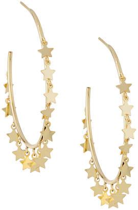 Sphera Milano Hoop Earrings w/ Hanging Stars