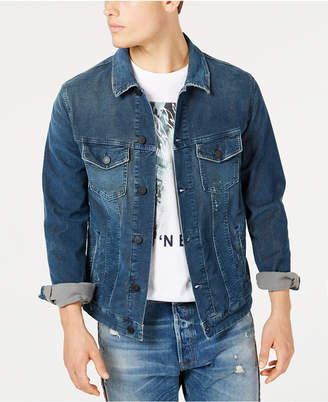 Jack and Jones Men Cord Blue Trucker Jacket