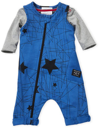Baby Essentials Kidding Around (Newborn Boys) Two-Piece Long Sleeve Tee & Romper Set