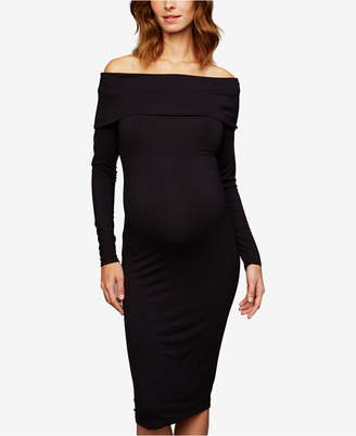 A Pea in the Pod Maternity Off-The-Shoulder Dress