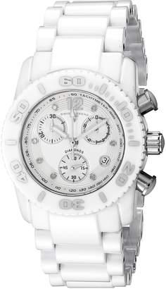 Swiss Legend Women's 10128-WSD Commander Chronograph Diamond Ceramic Watch