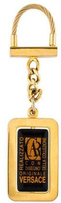 Versace Metal Logo Keychain