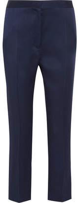 Haider Ackermann - Satin Straight-leg Pants - Indigo $750 thestylecure.com