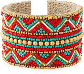 Nakamol Wide Beaded Cuff Bracelet