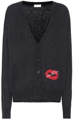 Saint Laurent Mohair-blend cardigan